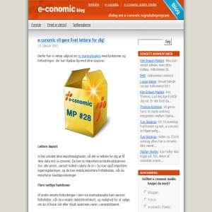 Blog for e-conomic.dk - online faktureringssystem.