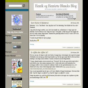 Henrik og Henriette Bluncks blog