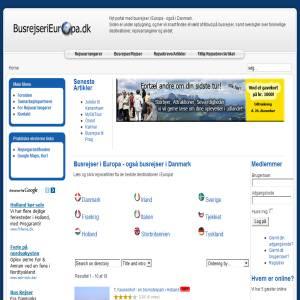 Busrejser i Europa