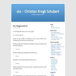 cks - Christian Krogh Schubert