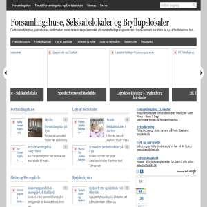 Forsamlingshuse og Selskabslokaler i hele Danmark