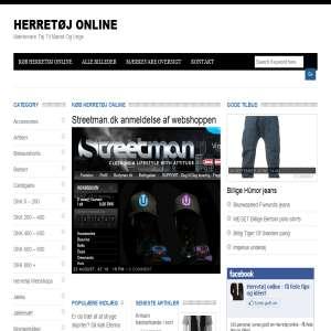 Herretoej-online.dk - Artikler om herret�j p� nettet