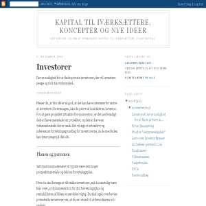 Kapital til iværksættere