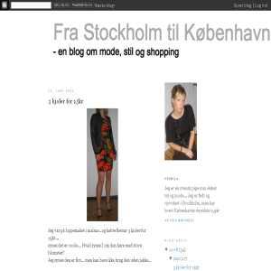 Fra Stockholm til K�benhavn