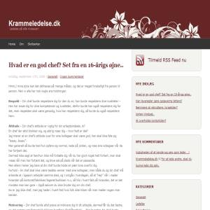 Krammeledelse.dk - Ledelsesteorier, holdninger samt synspunkter