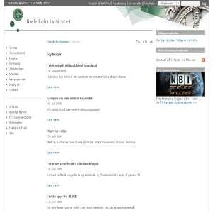 Niels Bohr Institutet - Nyheder