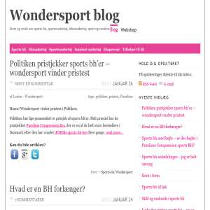 Wondersport blog