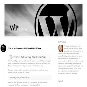 WP  multisite - blog om WordPress multisite