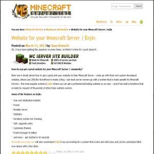 Lav dit eget Minecraft site - CMS