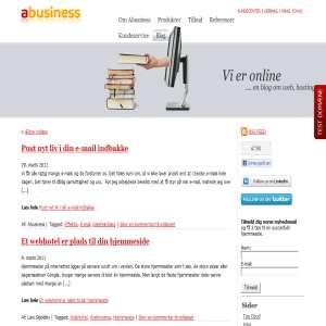 Vi er online - abusiness.dk