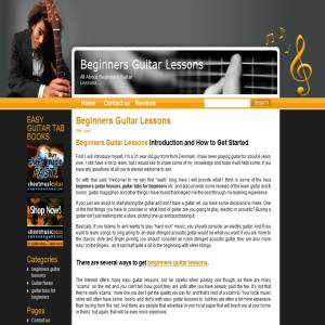 The Beginners Guitar Lessons Blog