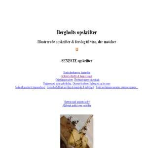 Bergholts blog - om opskrifter og gastronomi