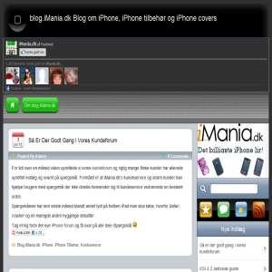 blog.iMania.dk Blog om iPhone, iPhone tilbehør og iPhone covers