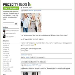 Pricecity blog om shopping