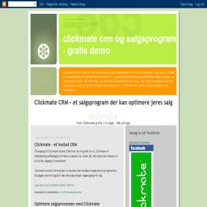 Clickmate CRM og salgsprogram