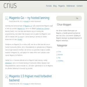 Crius Magento-blog