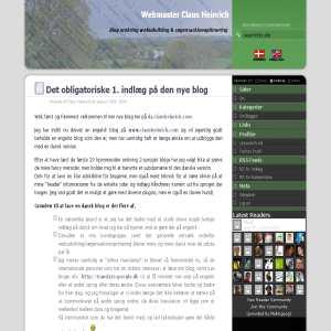 Blog om webudvikling & søgemaskineoptimering | Claus Heinrich
