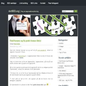 Blog om søgemaskineoptimering