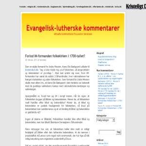 Evangelisk-lutherske kommentarer