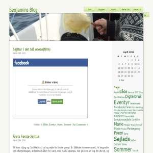 Benjamins Blog - En Sejlers Beretning