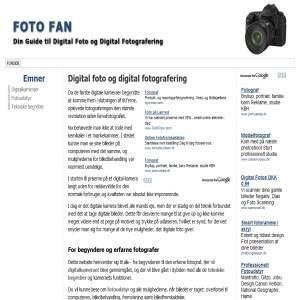 Foto Fan - Din guide til Digital Foto og Digital Fotografering