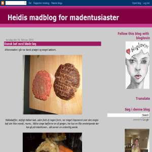 Heidis madblog for madentusiaster