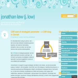 Jonathan Løw blogger om CSR