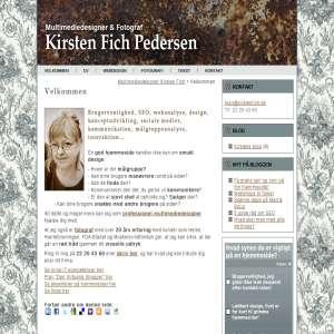 Kirsten Fich Pedersen - Multimediedesigner og Fotograf