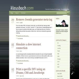 klausbach.com - From the Trenches of Web Design