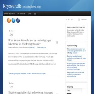 Krysser.dk - En socialliberal blog