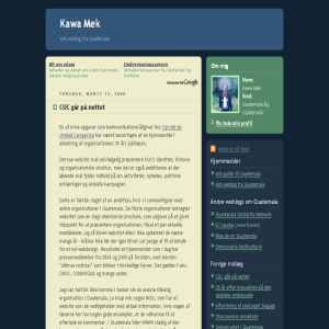 Kawa Mek. Weblog fra Guatemala