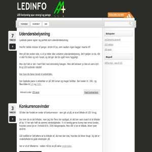 Info om LED lysdioder