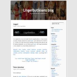 Lingeributikkens Blog