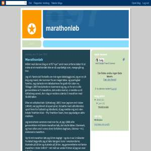 Marathonløb blogspot