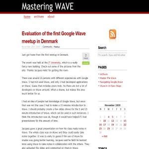 MasteringWave - Google Wave