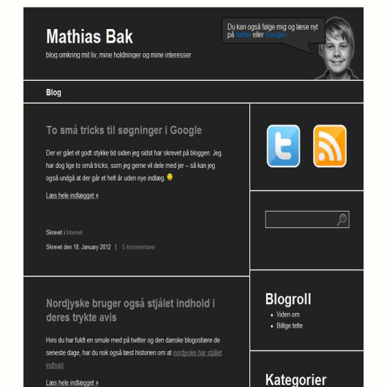 Mathias Baks blog
