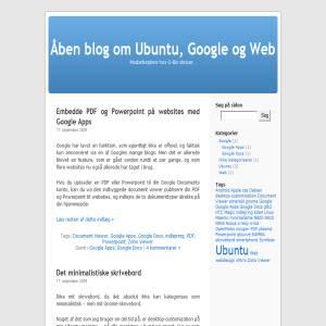 Åben blog om Ubuntu, Google og Web