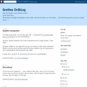 Grethes ordbLog