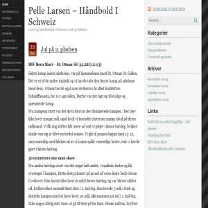 Pelle Larsen - Håndbold i Schweiz