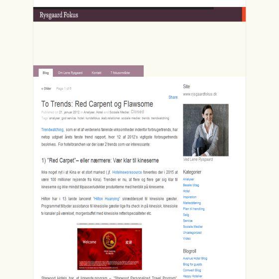 Rysgaard Fokus Blog