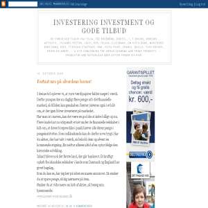 Investeringer og gode tilbud