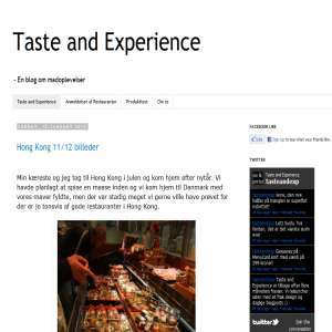 Taste and Experience