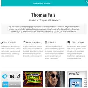 Freelance webdesigner Thomas Fals