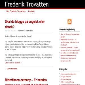 Adwords og SEO blog af Frederik Trovatten