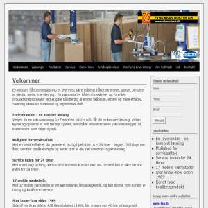 Vakuumløft og materialehåndtering fra Fyns Kran Udstyr A/S