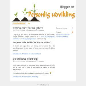 Personlig udvikling - bloggen