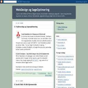 WebDesign og SøgeOptimering