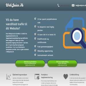 Webjuice: Hjælp til Online Markedsføring